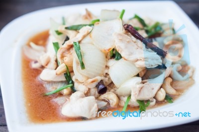 Spicy Chicken With Cashew Nuts Stock Photo - Royalty Free Image ID ...