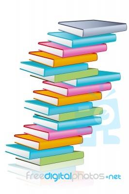 stacking books stock image - royalty free image id 10052543