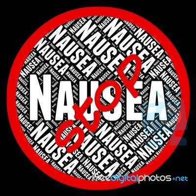 stop nausea indicates travel sickness and stock