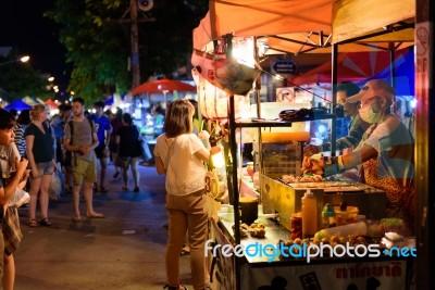 Sunday Market Chiang Mai Walking Street Stock Photo ...