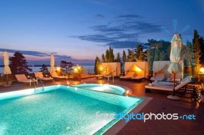 Swimming Pool Of Luxury Hotel Stock Photo Royalty Free Image Id