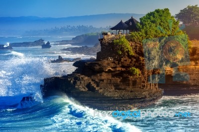Tanah Lot Temple In Bali Island Indonesia Stock Photo Royalty Free