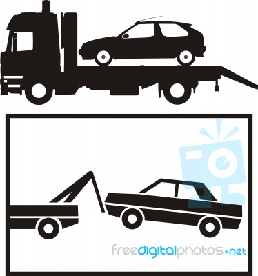Towing Service And The Symbol Stock Image Royalty Free Image Id