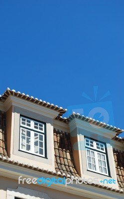 Traditional House Building In Lisbon Portugal Stock Photo Royalty