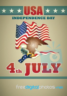 usa poster of independence day stock image