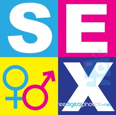 Word Sex And Male Female Icons Stock Image Royalty Free Image Id