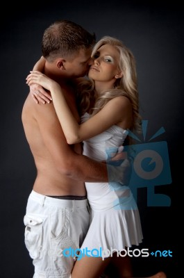 Young Couple Kissing Stock Photo Royalty Free Image Id 10078006